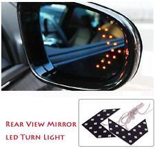 1pc Auto 14SMD LED Arrow Light Car Side Turn Signal Indicator Lamp Yellow AH