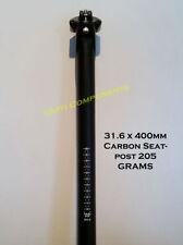 Componentes y piezas negras universal de fibra de carbono para bicicletas