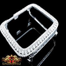 Apple Watch Genuine Diamond Case 40MM Sport Bezel 1.25 Ctw White Gold Finish