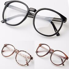 Large Oval Clear Lens Glasses Fashion Party