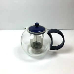 Bodum Assam Tea Press Blue Infuser Maker Teapot 34 oz
