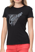 GUESS JEANS TEE-SHIRT LOGO STRASSE PRINTE W92I53 NOIR FEMME