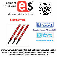 10 x STAFF Neck Lanyards, RED, (FREE P&P)