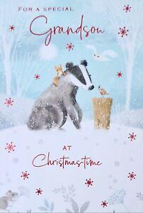 Grandson at Christmastime Card