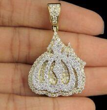 Islamic Pendant in 14k Yellow Gold Finish 2.25 Ct Round Sim Diamond Men's Allah