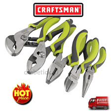 New Craftsman Evolv 5 pc. Green Plier Set Nose Plier Tool Needle Fast Shipping