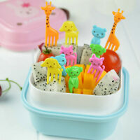 10Pcs Fruit Fork Animal Food Picks Forks Children Cartoon Bento Lunch Decoration