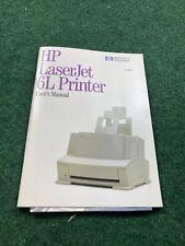 HP LaserJet 6L Printer Vintage Printer Users Manual Rare Fast Shipping