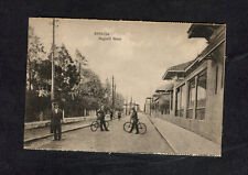 c1910 View of Men with Bicycles, Ismailia, Egypt