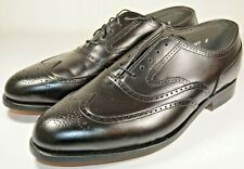 New Vintage FootJoy Classics Made in USA Black Wingtip Dress Shoes Size 10 D
