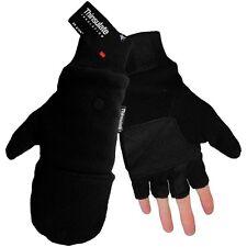 3M Thinsulate Fleece Fingerless Winter Work Gloves + Flip up Mittens Small