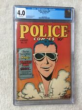 Police #33 Quality Comics August 1944 CGC 4.0 off-white pages free shipping