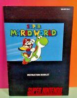 Super Mario World - SNES Super Nintendo - Instruction MANUAL ONLY - No Game