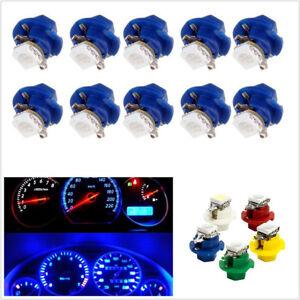 50 Pcs 12V 5-Color T5 5050 1SMD LED B8.4D Car Dashboard Side Indicator Light