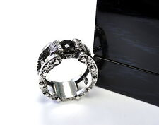 Men's Designer Silver Ring With Black Diamond by Sacred Angels
