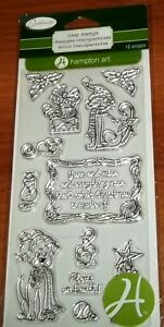 CLEAR ACRYLIC HAMPTON ART STAMPS DOGS & CATS ~ Fleas on Earth  wks CTMH blk