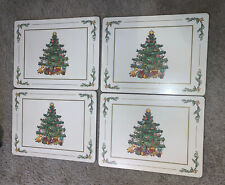 New listing Pimpernel Christmas Cork Backed Placemats Set of 4 Spode Decorated Tree Toys