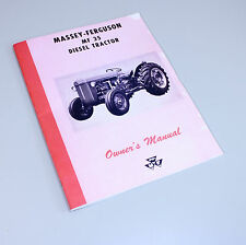 MASSEY FERGUSON MF 35 DIESEL TRACTOR OPERATORS OWNERS MANUAL MAINTENANCE