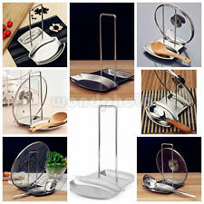 Stainless Steel Pan Pot Lid and Spoon Rest Rack Organizer Storage Stand Holder
