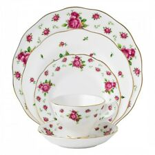Royal Albert New Country Roses White Vintage 20 Piece Dinner Set - LAST 3 SETS!