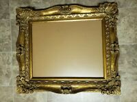"Antique Reproduction Gold Gilt Vintage Picture Frame Opening 19 1/2"" x  15 1/2"""