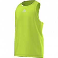 SIZE XL - ADIDAS CLIMALITE MENS RUNNING TRAINING GYM SINGLET VEST LIME GREEN