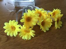 YELLOW DAISY INDOOR FAIRY LIGHTS 8 FLOWERS SPRING TABLE DECORATION  NEW