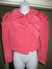 VTG STEPHEN BURROWS Taffeta Bolero Cropped Jacket 6 Pnk