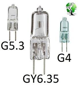 (15) JC Halogen Bi-Pin 12 Volt G5.3 G6.35 G4 GY6.35 bulbs lamps Capsule 12V Puck