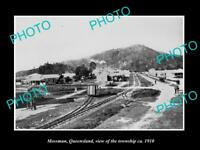 OLD LARGE HISTORIC PHOTO OF MOSSMAN QUEENSLAND, VIEW OF THE TOWNSHIP c1910