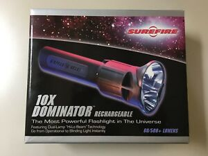 Surefire 10x Dominator Dual Lamp performance Tactical Flashlight - All Original