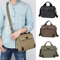 Men's Canvas Messenger Shoulder Bag Handbag Outdoor Travel Hiking Crossbody Bag