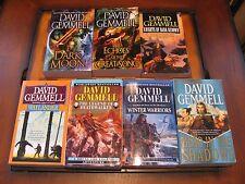 7 David Gemmell Matching Paperbacks-Drenai Series-Dark Moon-Echoes of the Great