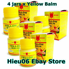 Lot 4 jars of Eagle Brand Yellow Balm 40g EXTERNAL ANALGESIC Ointment