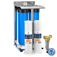 """2-Stage 20"""" Whole House Filtration System by Aquaboon+Carbon+Sediment+Frame"""