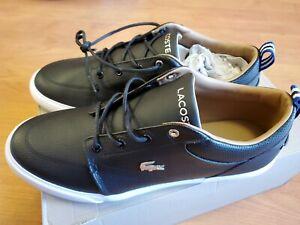 Men's Shoes Lacoste BAYLISS 119 1 U Fashion Sneakers  BLACK / WHITE Size 10.5