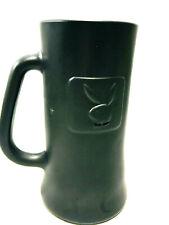 New listing Playboy Black Frosted Glass Beer Stein Mug Bunn Logo