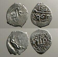 2 SILVER COINS OF THE GOLDEN HORDE___Mongol Empire___DESCENDANTS OF GENGHIS KAHN