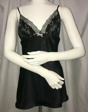 Linea Donatella Lace-Trimmed Polyester Babydoll Black Small