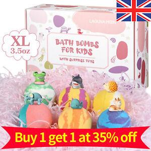 LAGUNAMOON  Mini Scented Bath Bombs Fizzes Aromas 6Pcs Bath Bombs For Kids
