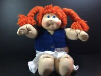 1985 VINTAGE CABBAGE PATCH KIDS XAVIER ROBERTS BLUE EYES RED HAIR W/CLOTHS
