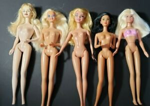 MATTEL BARBIE LOT OF 5 UNIQUE 1990S FOR OOAK OR PLAY