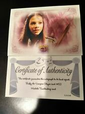 BUFFY TVS - WOS - MICHELLE TRACHTENBERG as DAWN PERSONALLY AUTO #52 - COA
