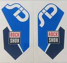 COPPIA (DX+SX) OEM Adesivi Decalcomanie Originali RockShox SID RLT WorldCup BLU
