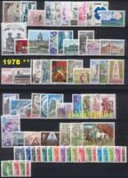 France Année 1978 complète - NEUFS ** - LUXE