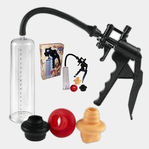 Vakuum Pumpe Potenzpumpe Penispumpe 9te PerfectPump 3 Manschetten+Scherengriff