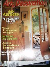 Art et Décoration N° 341 1996 Les machines à coudre Le meuble de Lille Véranda