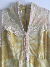 Gunne Sax maxi prairie dress vintage RARE yellow Jessica McClintock wedding boho