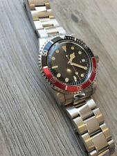 Vintage coke bezel homage Automatic Submariner Heritage domed crystal watch