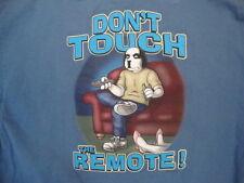 "Big Dogs Santa Barbara ""Don't Touch the Remote!"" Souvenir Blue T Shirt XL"
